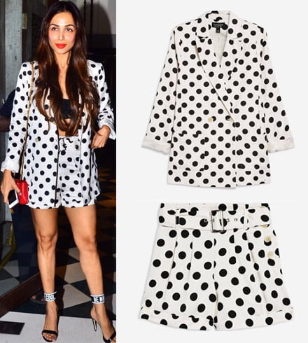 Malaika Arora in Polka Dots Dress