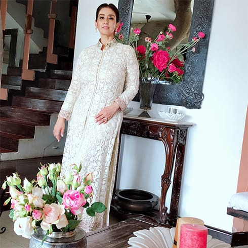 Manisha Koirala in Manish Malhotra