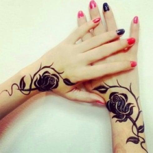 Roses Bud Henna Design
