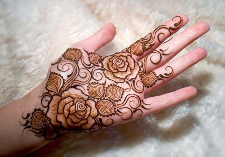Rose Flower Mehndi : Top rose mehndi designs to be the cynosure of all eyes