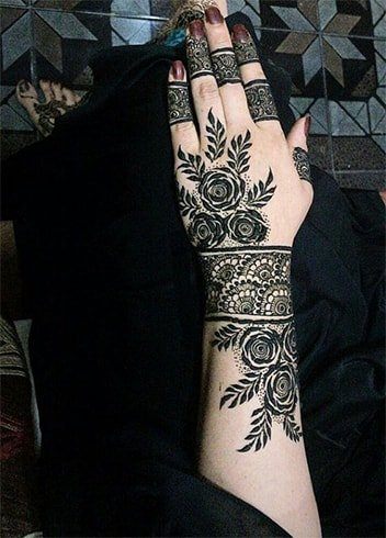 Rose Mehndi Designs 2018