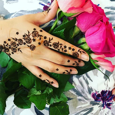Simple Rose Mehndi Design