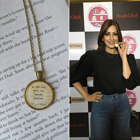 Sonali Bendre Book Club pendant