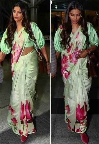 Sonam Kapoor in Masaba Gupta sari
