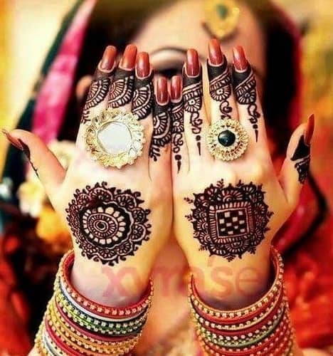 spherical tikki Mehndi Designs