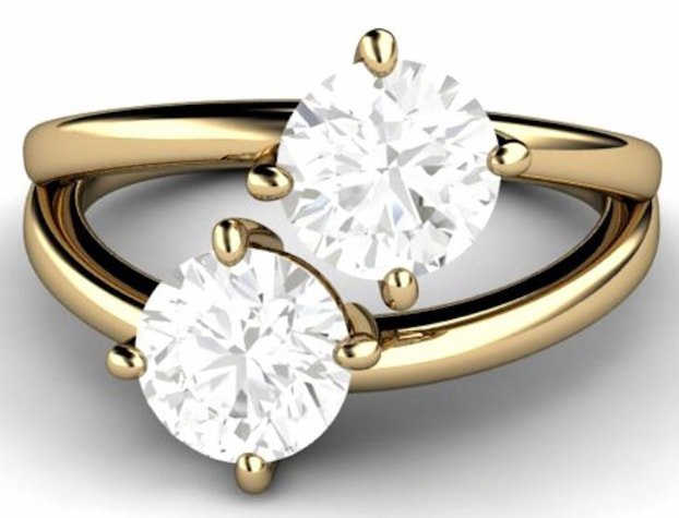 Two Stone Diamond Ring Designs