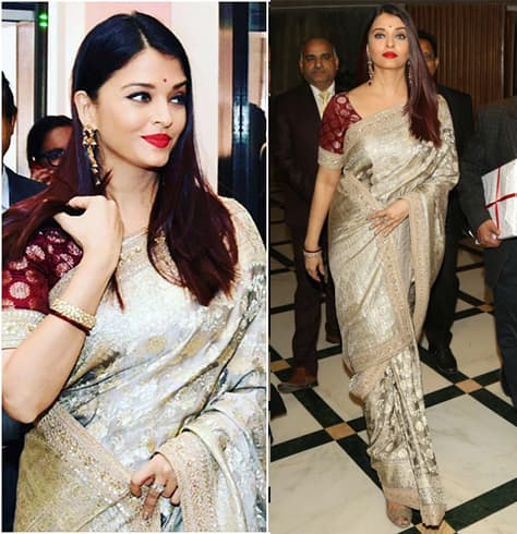 Aishwarya Rai Bachchan In Traditional Saree