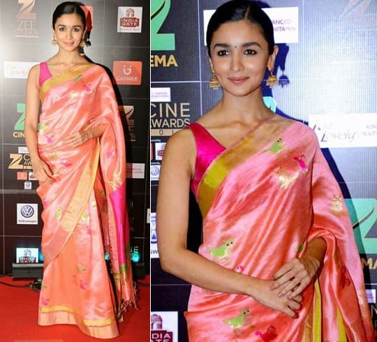 Alia Bhatt In A Saree