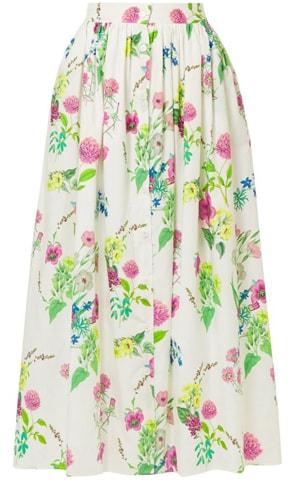 Floral Drindl skirt