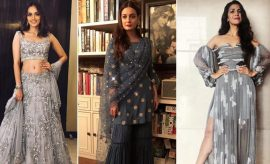 Bollywood Celebs in Shades Of Gray Dress