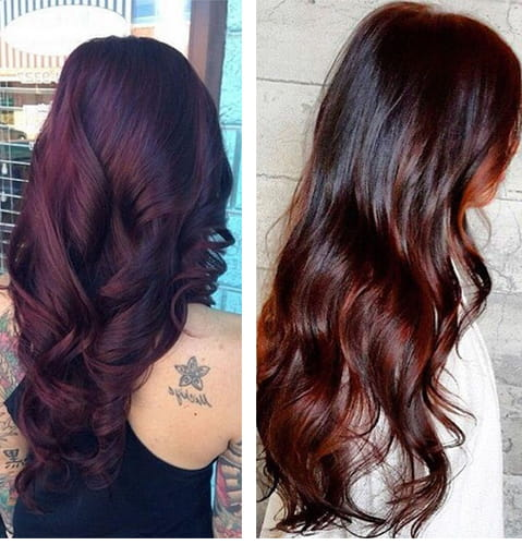 Chocolate Cherry Browns Hair Color
