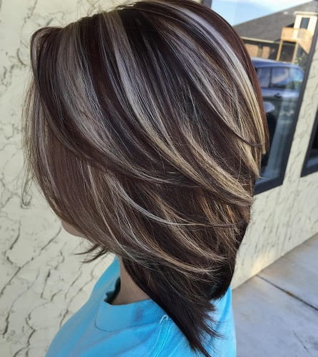 Dark Platinum Browns Hair Color