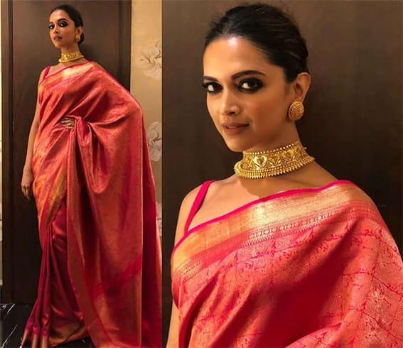 Deepika Padukone in Sari