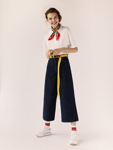 Denim Culottes And Fun Accessories