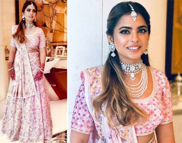 Isha Ambani at akash ambani engagement