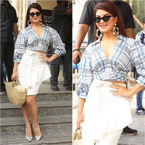 Jacqueline Fernandez In Prabal Gurung and Sashe