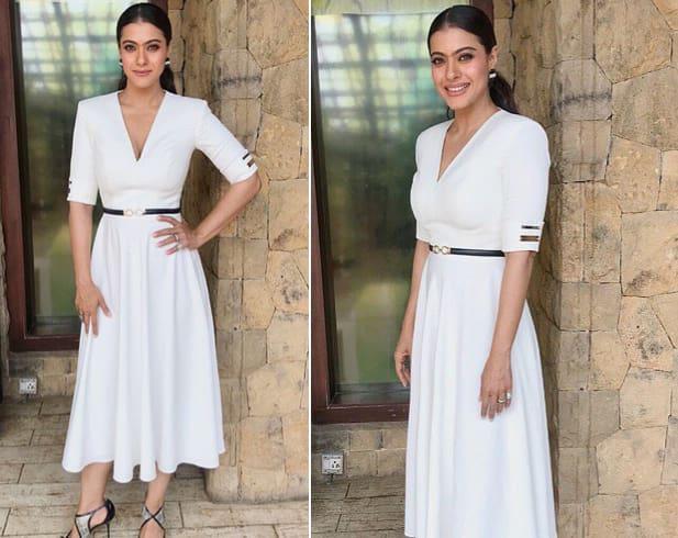 Kajol White Outfit