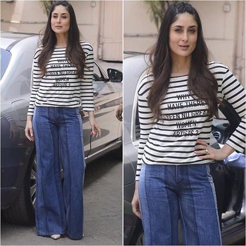 Kareena Kapoor Stripes Fashion