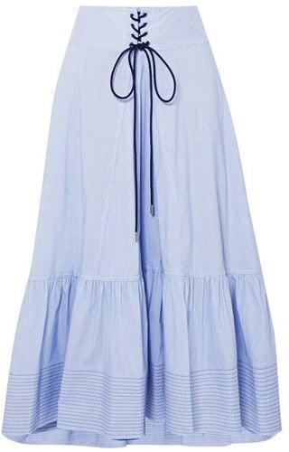 Lace-up detailing Drindl skirt