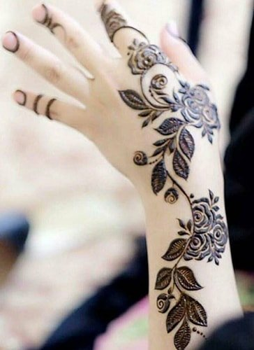 Latest Mehndi Designs For Back Hand