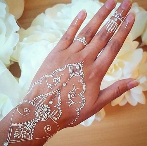 Mehndi back hand designs