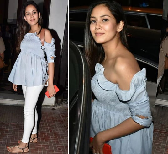 Mira Rajput In Off-Shoulder Top