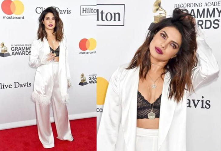 Priyanka Chopra White Fashion