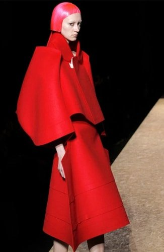 Rei Kawakubo Design red dress