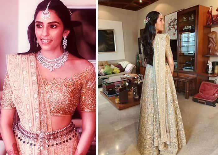 Shloka Mehta fashion in her engagement