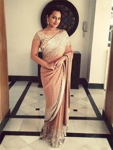 Sonakshi Sinha Saree Style