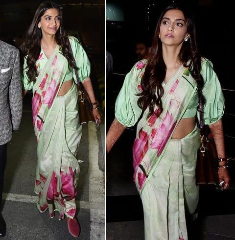 Sonam Kapoor Sari Style