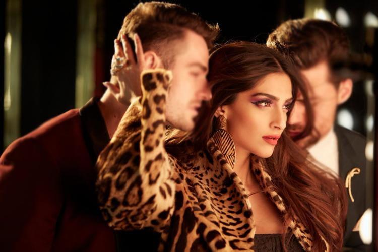 Sonam Kapoor in leopard-print attire