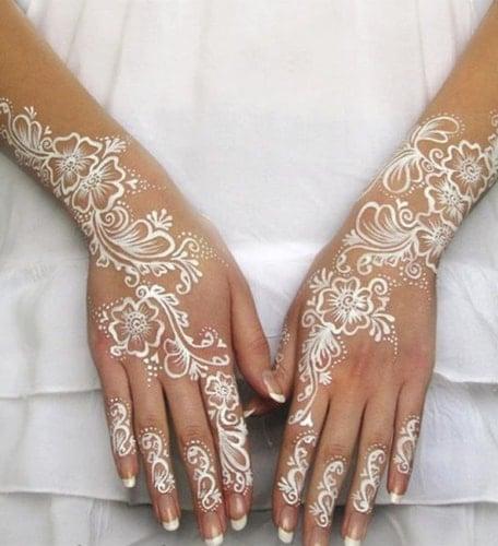 White mehndi designs
