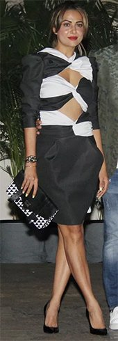 Amrita Arora in Vionnet Cut out Dress