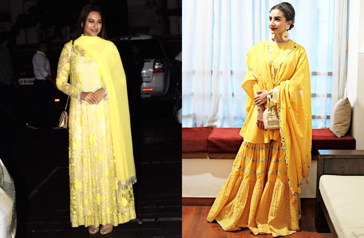 Celebs in Yellow Ethnic Styles
