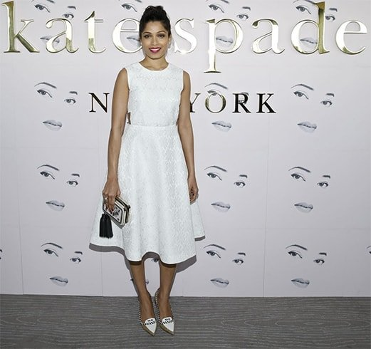 Frieda Pinto With Kate Spade Bags