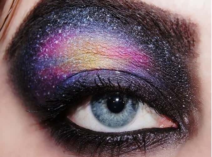 galaxy eye makeup for beauty