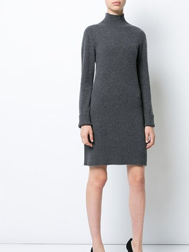 High Neck Sweater Dresses