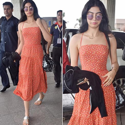 Khushi Kapoor at Airport