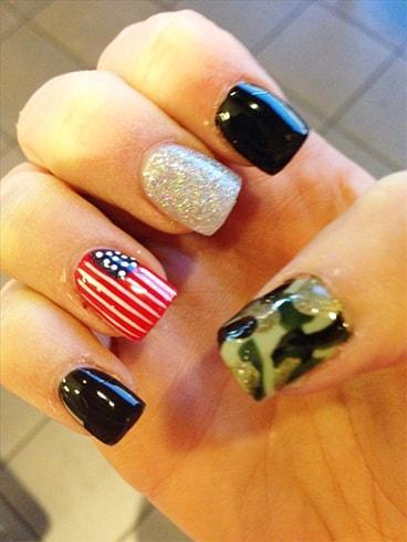 Patriotic Nail Art Ideas