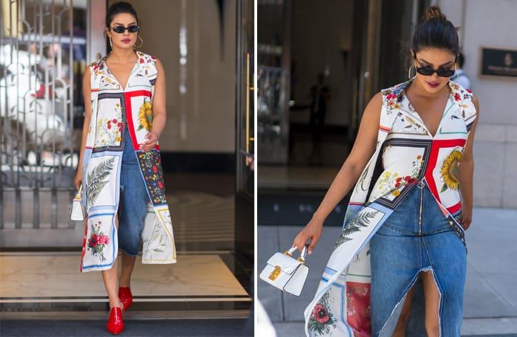 Priyanka Chopra in Monse Maison top