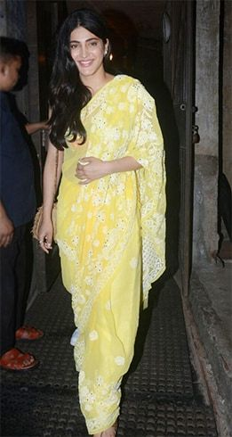 Shruti Haasan in Yellow Saree