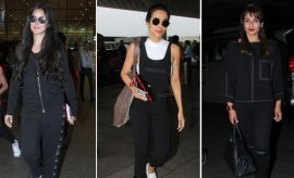 Bollywood Celebs in Black At Airport