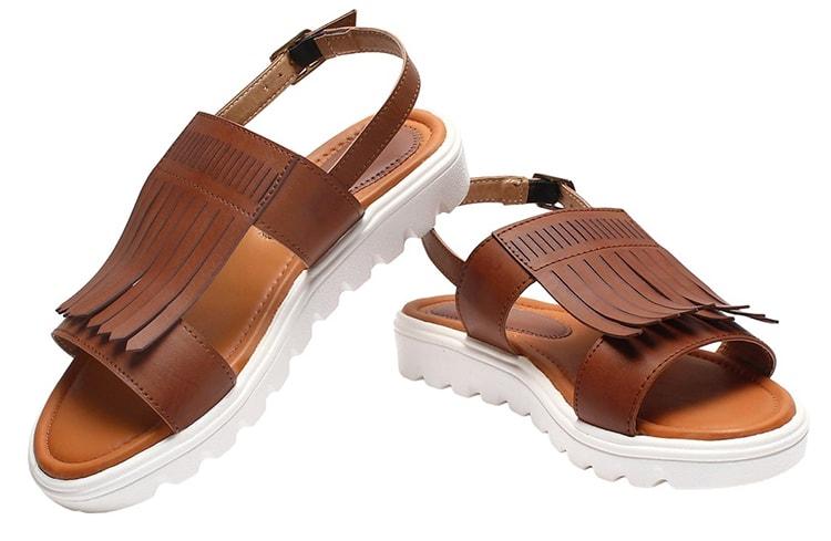 Brwon Back Strap Sandal