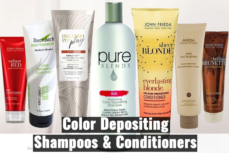 Color Depositing shampoos and conditioners