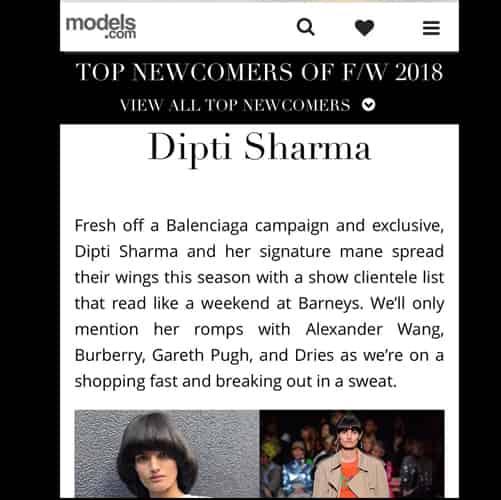 Dipti Sharma at Model