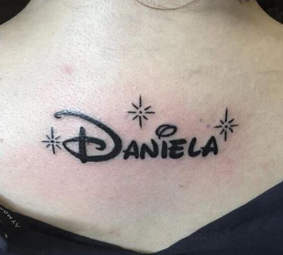 Disney logo tattoo