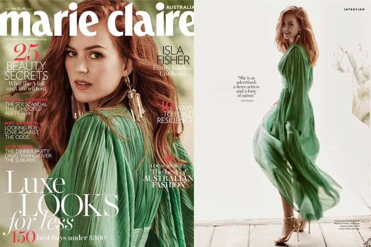 Isla Fisher for Marie Claire Australia