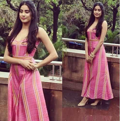 Janhvi Kapoor in Prabal Gurung dress
