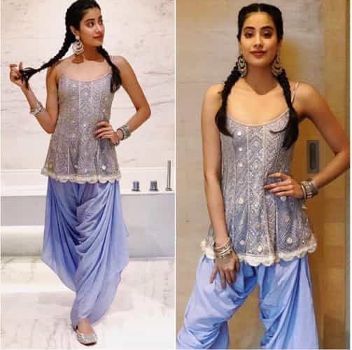 Janhvi Kapoor with School Girl Braids